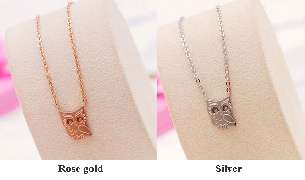 Lovely Owl Animal 18K Gold Plated Necklace