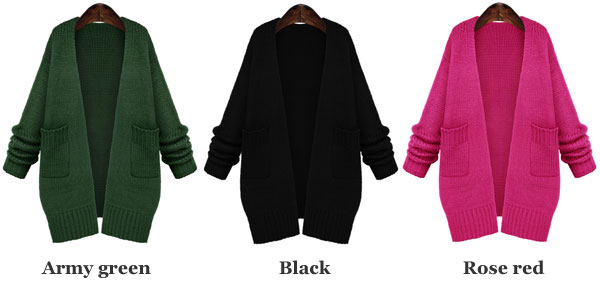 Loose Knitted Cardigan Sweater Coat