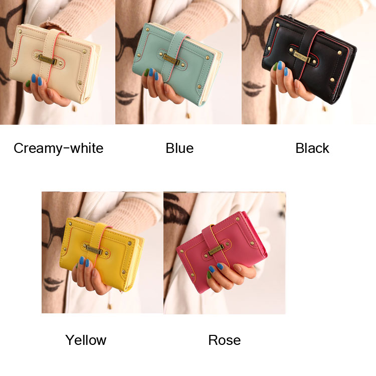 Fashion Cartoon Lady Students Wallet & Clutch Bag