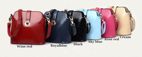 Latest Colorful Buckle Leather Shoulder Bags