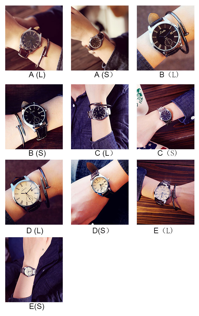 Simple Big Dial Student Leisure Couple Ultra-thin Waterproof Man Quartz Watch