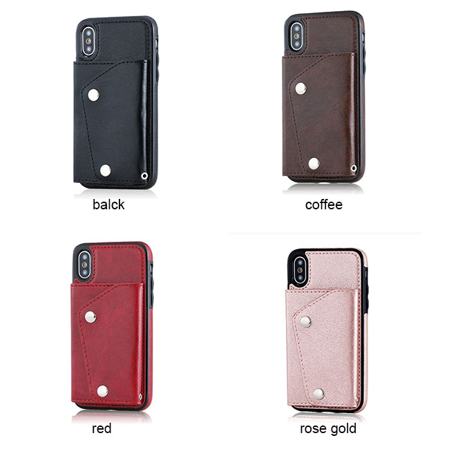 Fashion Multi-functions Hatter-resistant Mobile Phone Case Support Card Iphonex Cases