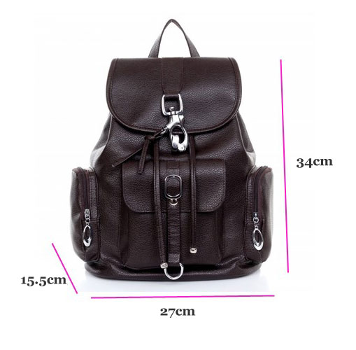 College Multi Pockets Buckle Backpack Schoolbag