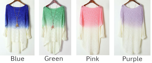 Fashion Irregular Gradient Sweater