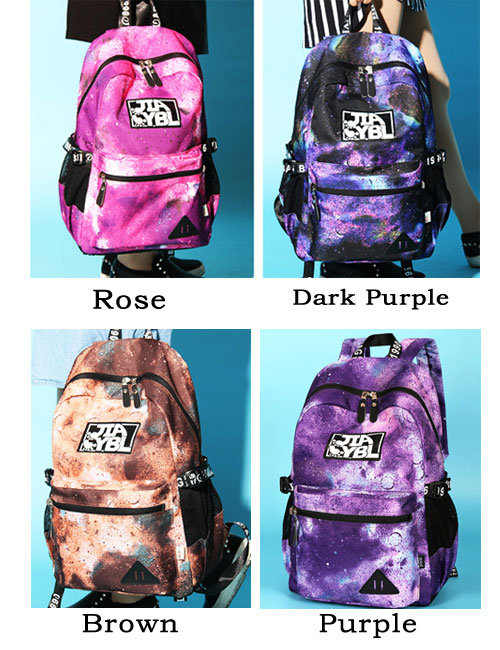 Leisure Large Universe Polyester School Rucksack Galaxy Travel College Backpack