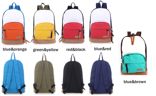 New Leisure Multicolor Canvas Backpacks