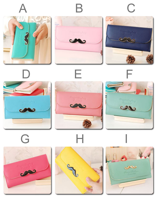 Latest Simple mustache Clutches & Wallet