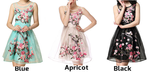 New good Handmade  Embroidery  Flower Organza Party Dress &Dress
