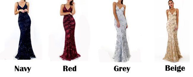 Sexy Deep V Neck Straps Sequin Party Dress Long Prom Dress