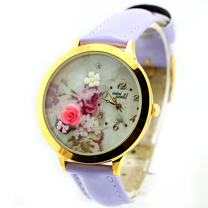 Lovely Rose Gold Edge Polymer Clay Watch