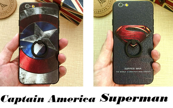Cool Cartoon Embossed Captain America Superman Iphone 6/6 plus/7/7 plus Cases