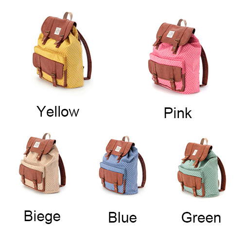 fashion Lovely Dot Print Cover Leisure Backpack