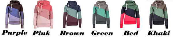 New Contrast Color Stitching Cashmere Wool Sports Women Tops Hoodie Pullover Sweater