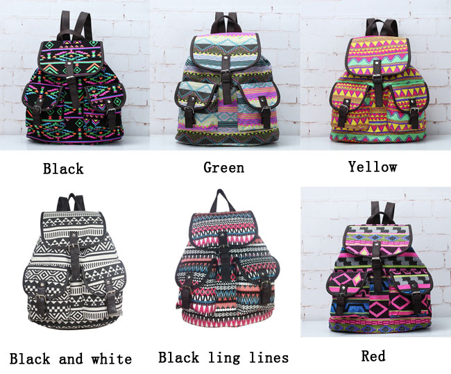 Unique National Fashion Totem Pattern Backpacks