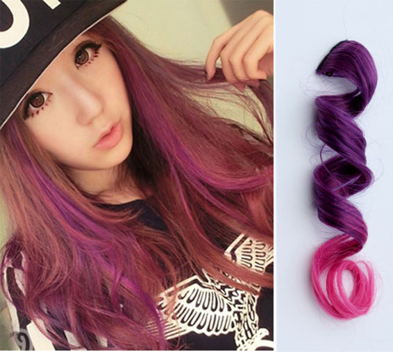 Magic Wavy Gradient Clips Hair Extensions