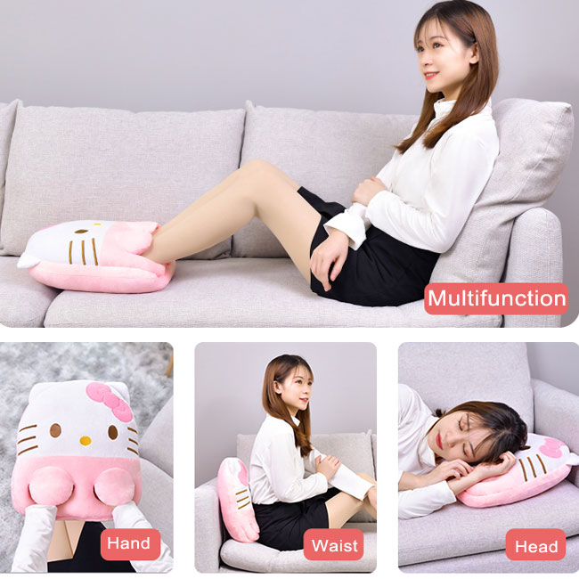 Cute Monkey Cat Kitty Pig Cartoon Animal Hand Foot Warming Pillow USB Office Winter Warming
