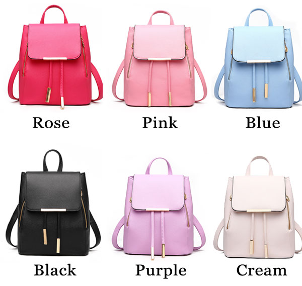 a12e62fcc0 Sweet Funky Lady Solid Simple Square PU Drawstring Hasp Satchel Leisure  Backpacks