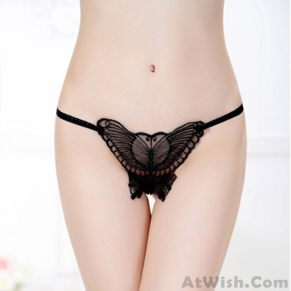 Sexy Pants Women Lace Butterfly Hollow Underwear Intimate Lingerie