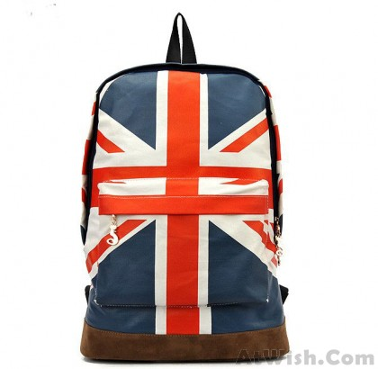 90947e723a92 ... School Bag Matte Square PU Backpack · Fashion Canvas British Flag  BackPack Shoulder Bag School Bag