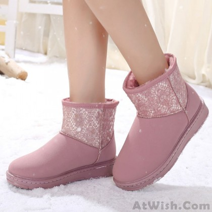 Sequin Waterproof Women Cotton Snow Boots