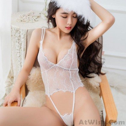 Sexy Hollow Slim Lace Conjoined Intimate Women's Lingerie