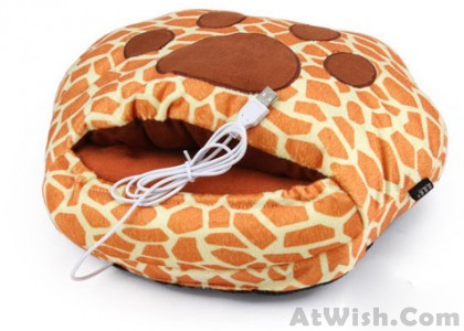 Leopard claw USB Heating Shoes/hand Warmer