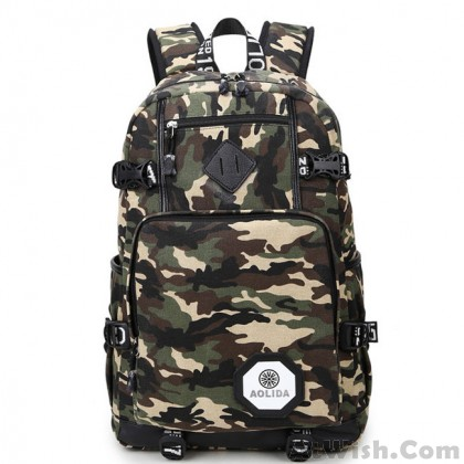 Outdoor Camouflage Travel Backpack Oxford Brass Middle School Bag Large Sport Backpack