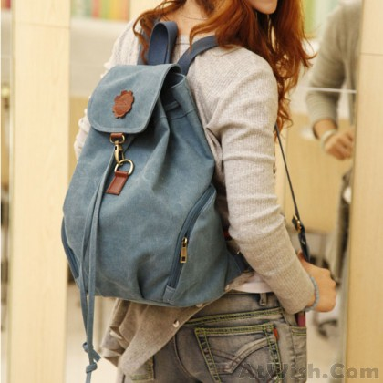 Leisure Fresh School Canvas Backpack