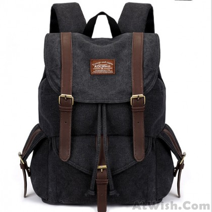 Vintage Camping Bag Multi-function Hiking Travel School Canvas Backpacks