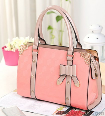 Elegant Polish Bow Lace Handbag