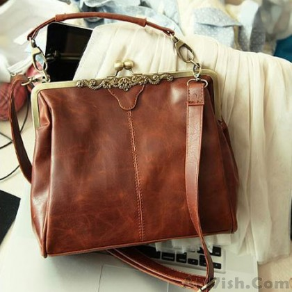 Retro Hollow Satchel Tote Shoulder Bag & Handbag