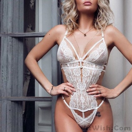 Sexy Mesh Lace Temptation Deep V Perspective Sling Intimate Lingerie