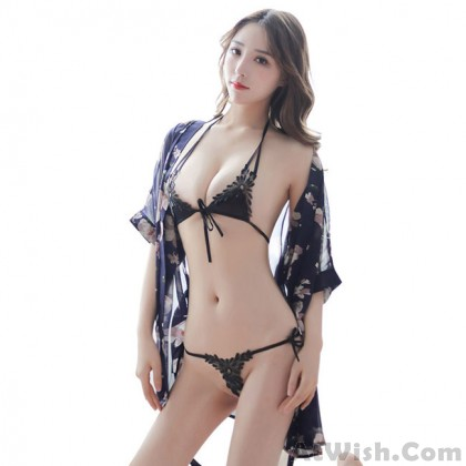 Sexy Lace Floral Hollow Leaves Women Perspective Intimate Lingerie