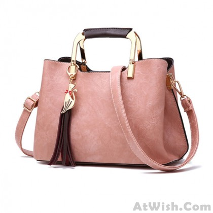 Elegant PU Leather Handbag Casual Tote Lady Shoulder Bag