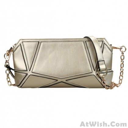 Splice Metal Chain Multifunctional Shoulder Bag