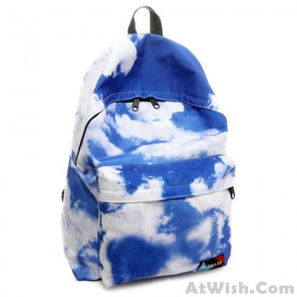 Fresh Blue Sky And Clouds College Backpacks