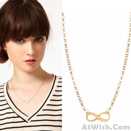 Fashion Infinity Bow Sweater Necklace