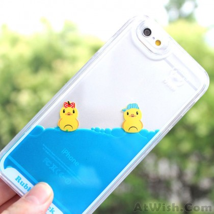 Funny Little Duck Bathing One Piece Blue Liquid IPhone 5/5S/6/6S Cases