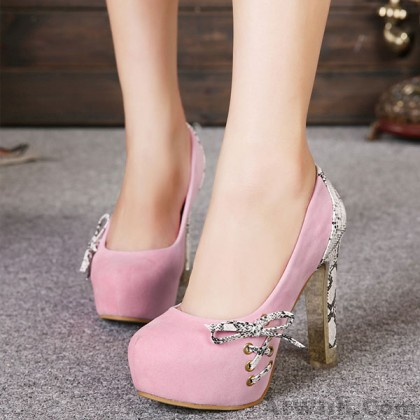 Elegant Bow Knot High Heels Party Shoes