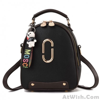 Leisure PU Leather Small Shoulder Bag Handbag Cute Backpack