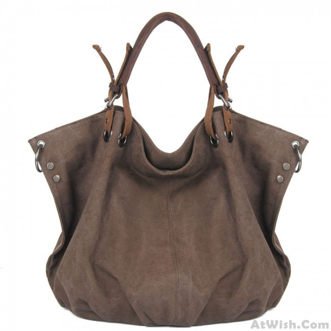 Canvas Hobo Handbag Crossbody
