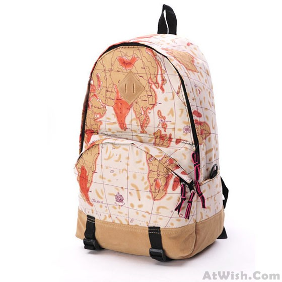 World map newspapers pattern backpacks fashion backpacks world map newspapers pattern backpacks gumiabroncs