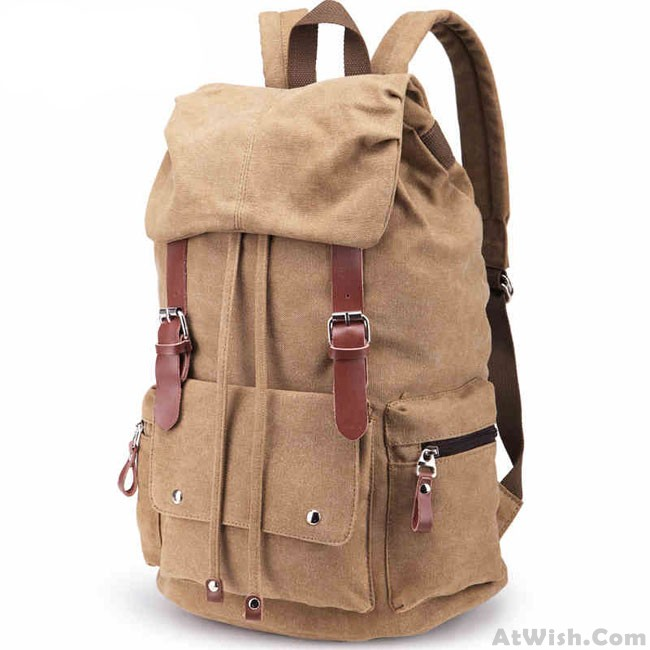New Laptop Rucksack Travel School Bag Hiking Bags Canvas Backpack ... 7ac17128d651a