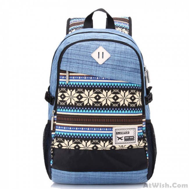 6a84a98f49 Big Folk Irregular Trunk College Rucksack Totem Camping Travel Canvas  Backpack