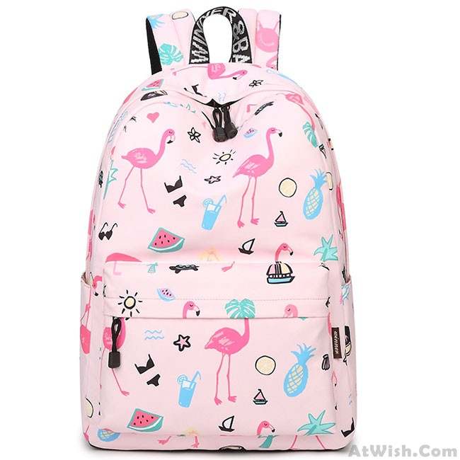 87a9abb8dc38 Cute Fruit Animal Vegetable Carrot Watercolour Flower Painting Girls School  Canvas Student Backpack only $37.99 -AtWish.com
