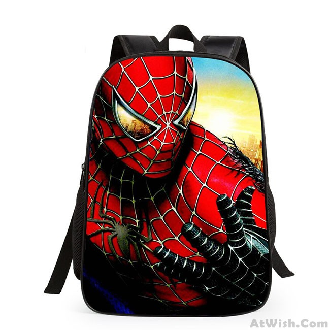 9cf288976a0c Cartoon School Student Cute Spider Man Super Hero Minions Children s  Backpack