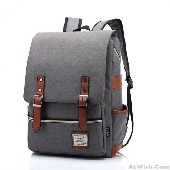 e7c06c293eba Retro Large Travel Backpack Leisure Leather Canvas Backpack School ...