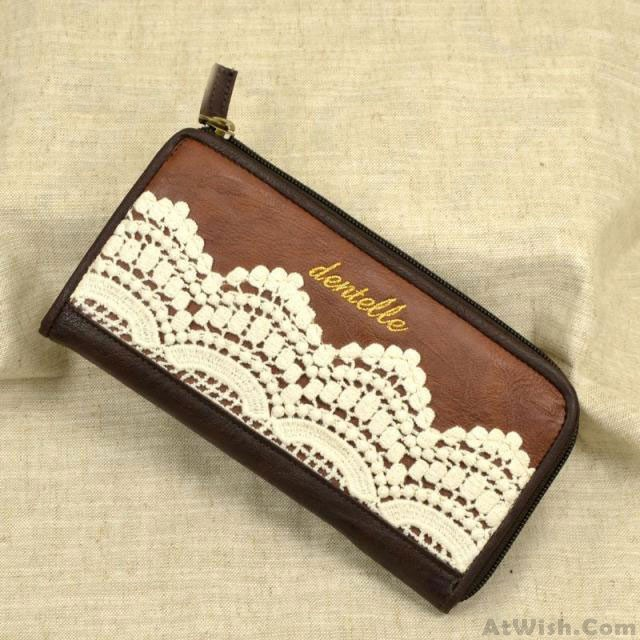 Retro Lace Handmade Leather Wallets | Gifts For Her ...