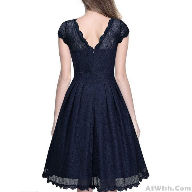 333ae0eddc Sweet Women's Retro Splicing Lace Hollow-out See Through Party Umbrella  Skirt Dress · Zoom. prev