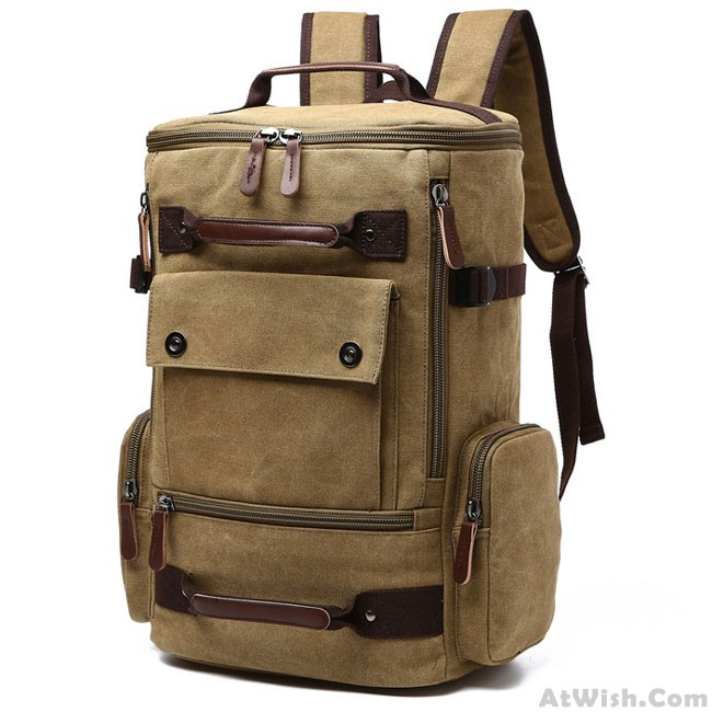 Washing The Washer In Backpack ~ Large capacity boy s canvas zipper backpack retro washing